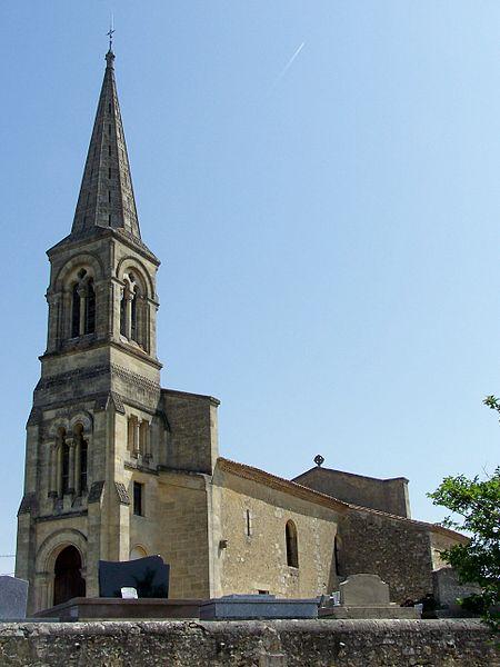 Photo du Monument Historique Eglise Saint-Jean-Baptiste situé à Monprimblanc