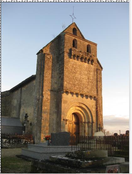 Photo du Monument Historique Eglise Saint-Martin situé à Mourens