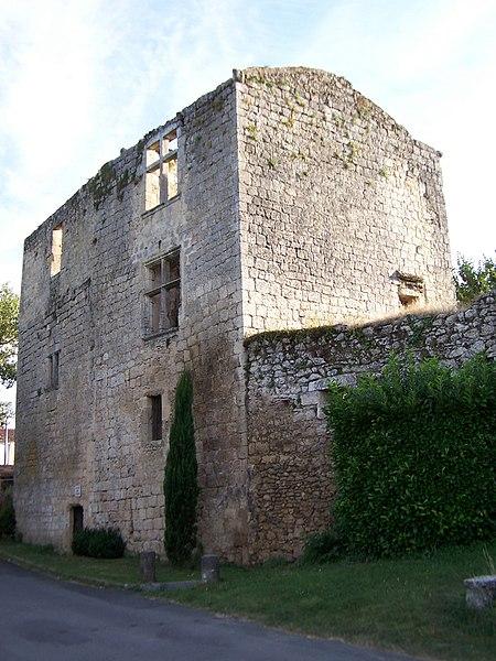 Photo du Monument Historique Ruines du château situé à Podensac