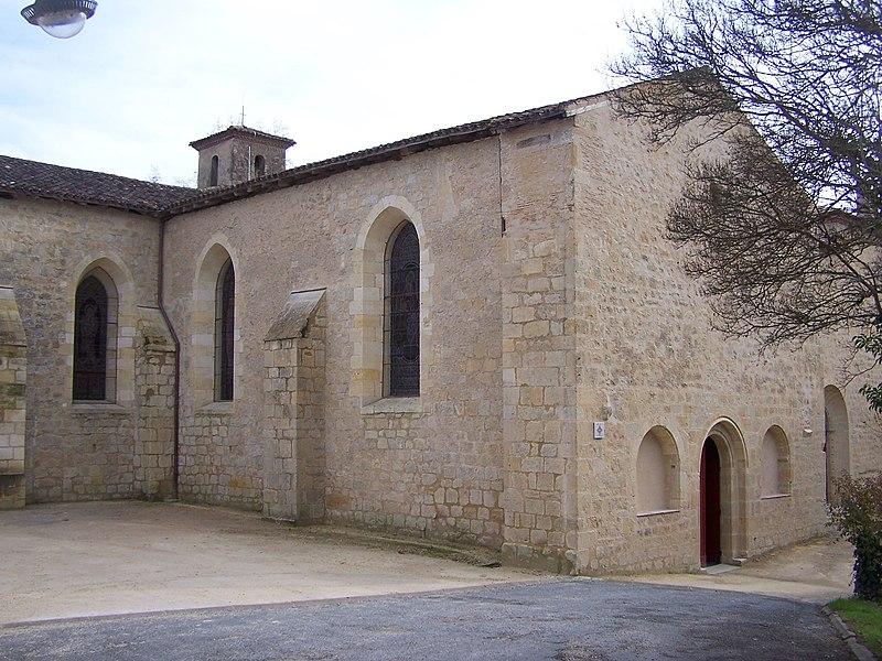 Photo du Monument Historique Eglise Saint-Antoine situé à Pondaurat