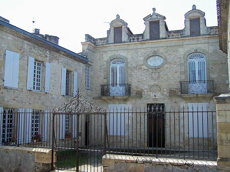 Photo du Monument Historique Hôtel du 17e siècle situé à La Réole