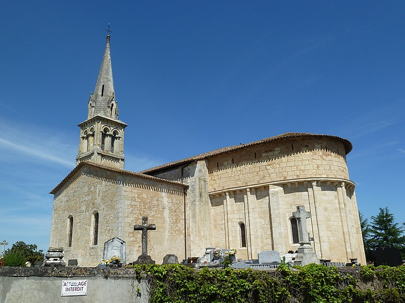 Photo du Monument Historique Eglise Saint-Martin situé à Sadirac