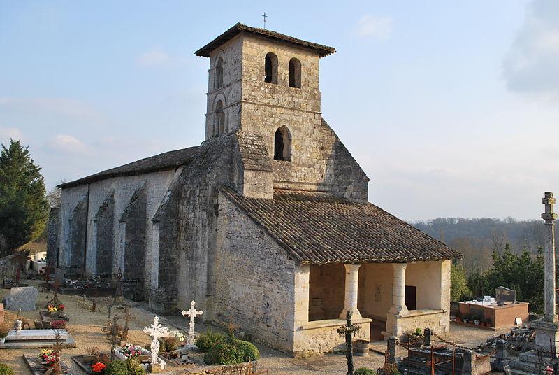 Photo du Monument Historique Eglise Notre-Dame situé à Saint-Aubin-de-Branne