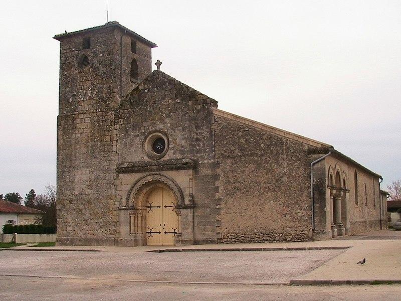 Photo du Monument Historique Eglise Saint-Aubin situé à Saint-Aubin-de-Médoc