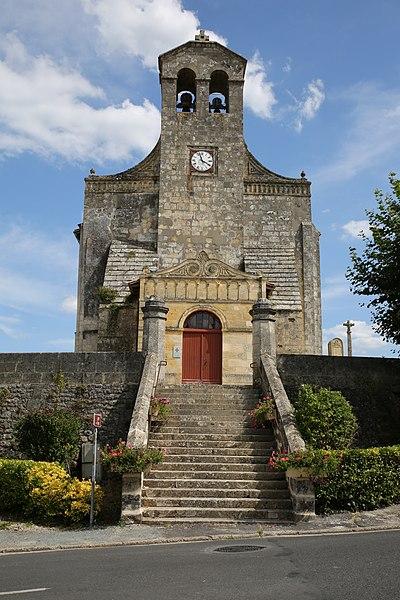 Photo du Monument Historique Eglise Saint-Caprais situé à Saint-Caprais-de-Bordeaux