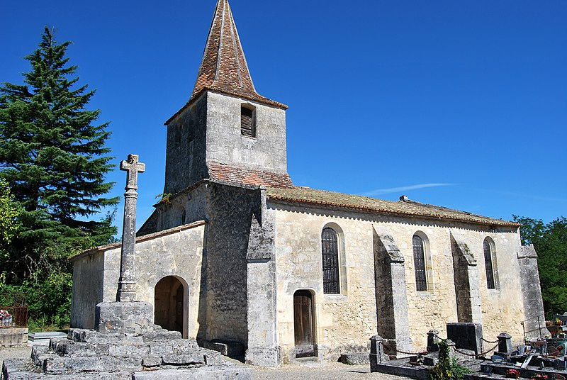 Photo du Monument Historique Eglise Saint-Martin du Bois situé à Saint-Ciers-d'Abzac