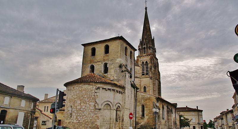 Photo du Monument Historique Eglise situé à Saint-Médard-de-Guizières