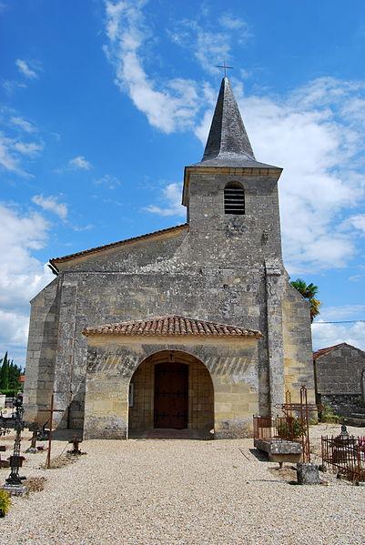 Photo du Monument Historique Eglise Saint-Pierre-aux-Liens situé à Saint-Pey-d'Armens