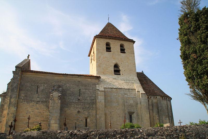 Photo du Monument Historique Eglise Saint-Vincent situé à Saint-Vincent-de-Pertignas