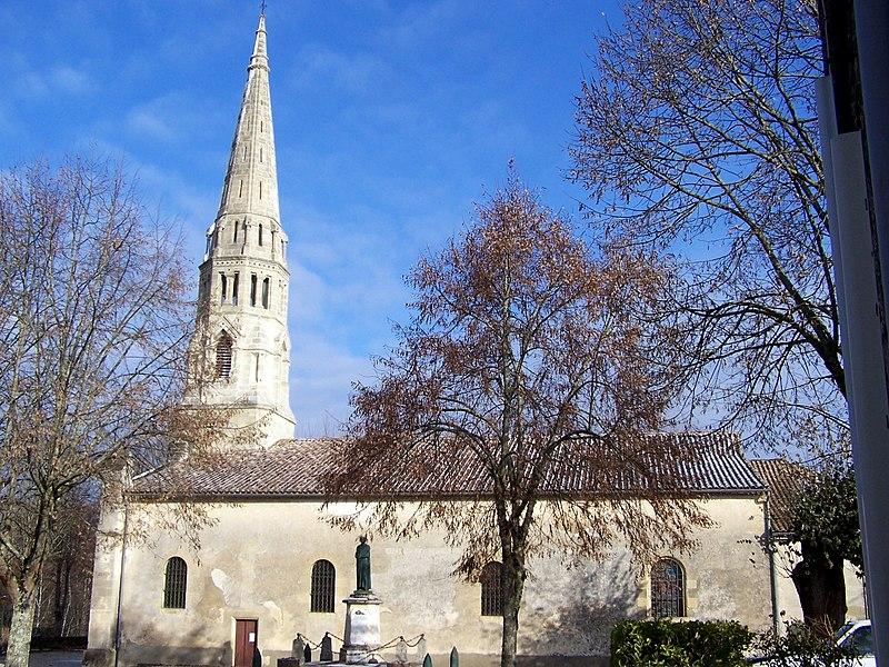 Photo du Monument Historique Eglise Saint-Pierre-ès-Liens situé à Sauternes