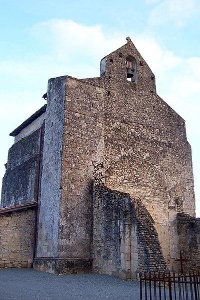 Photo du Monument Historique Eglise de Saint-Léger de Vignague situé à Sauveterre-de-Guyenne