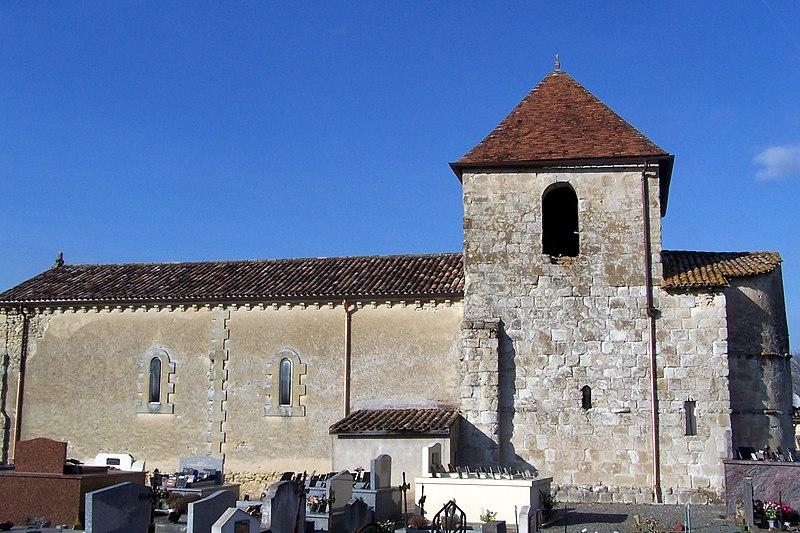 Photo du Monument Historique Eglise de Saint-Romain de Vignague situé à Sauveterre-de-Guyenne