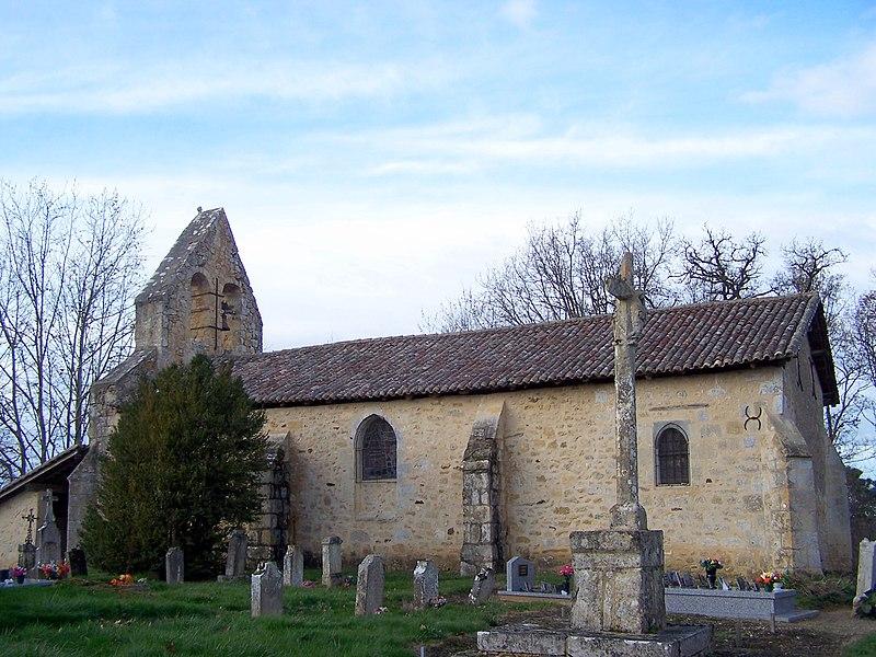 Photo du Monument Historique Eglise Notre-Dame d'Aillas-le-Vieux situé à Sigalens