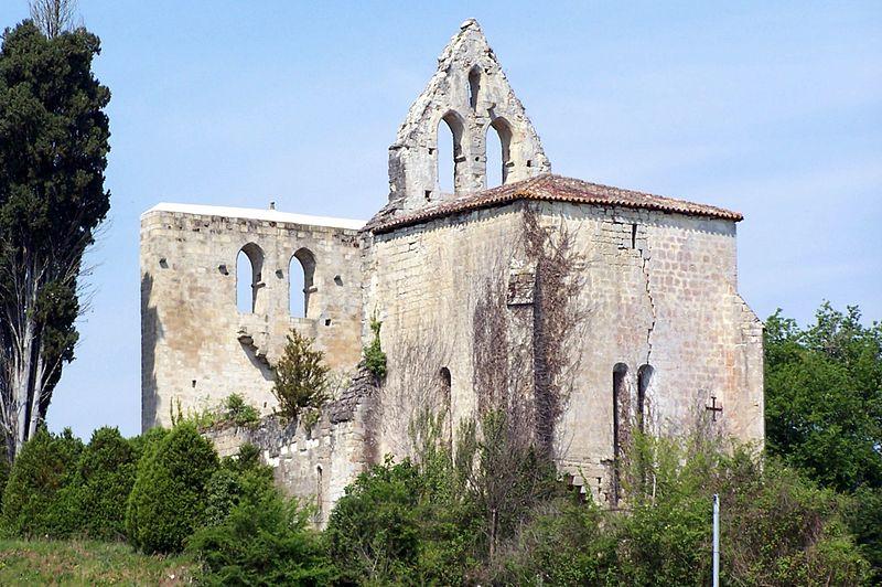 Photo du Monument Historique Ancienne église Saint-Martin de Monclaris situé à Sigalens