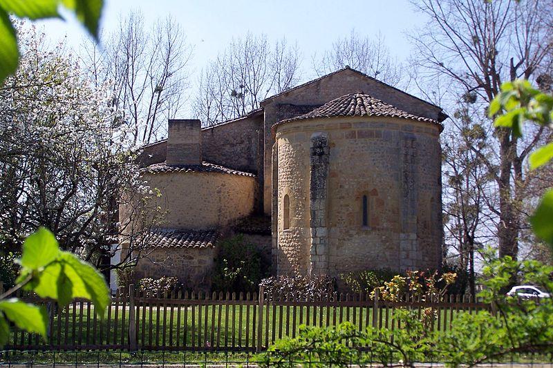 Photo du Monument Historique Ancienne église Saint-Maurice d'Aubiac situé à Verdelais