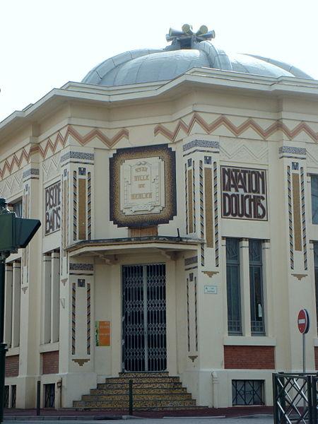 Photo du Monument Historique Piscine municipale - établissement de bains-douches situé à Bègles