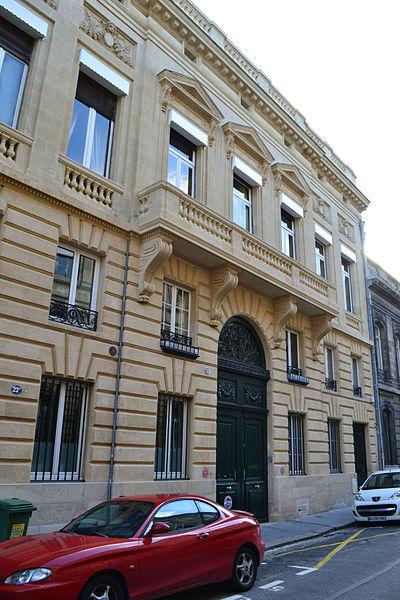 Photo du Monument Historique Hôtel de Babylone situé à Bordeaux