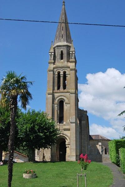 Photo du Monument Historique Eglise Saint-Michel situé à Civrac-sur-Dordogne