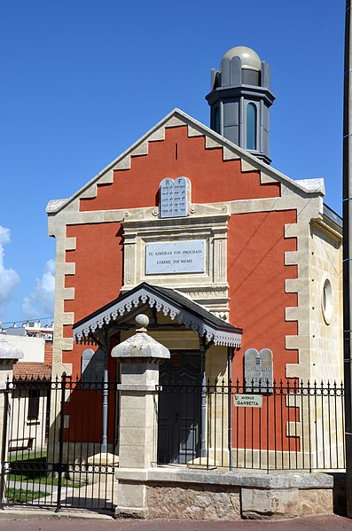 Photo du Monument Historique Synagogue situé à Arcachon