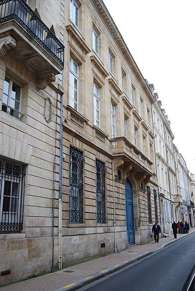 Photo du Monument Historique Hôtel particulier Mel de Fontenay situé à Bordeaux