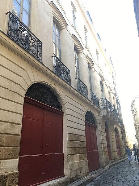 Photo du Monument Historique Maison dite maison Couturier situé à Bordeaux
