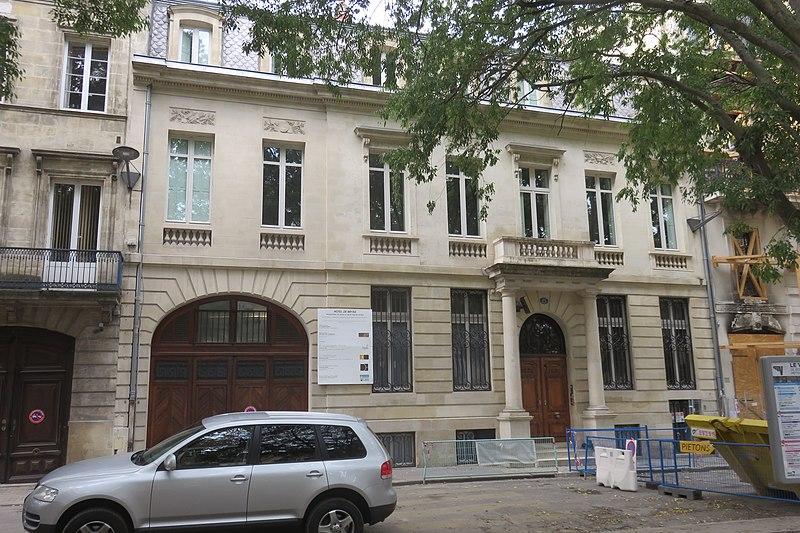 Photo du Monument Historique Hôtel de Bryas situé à Bordeaux