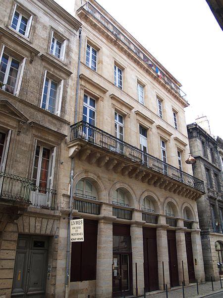 Photo du Monument Historique Maison construite pour Jean-Jacques Bosc situé à Bordeaux