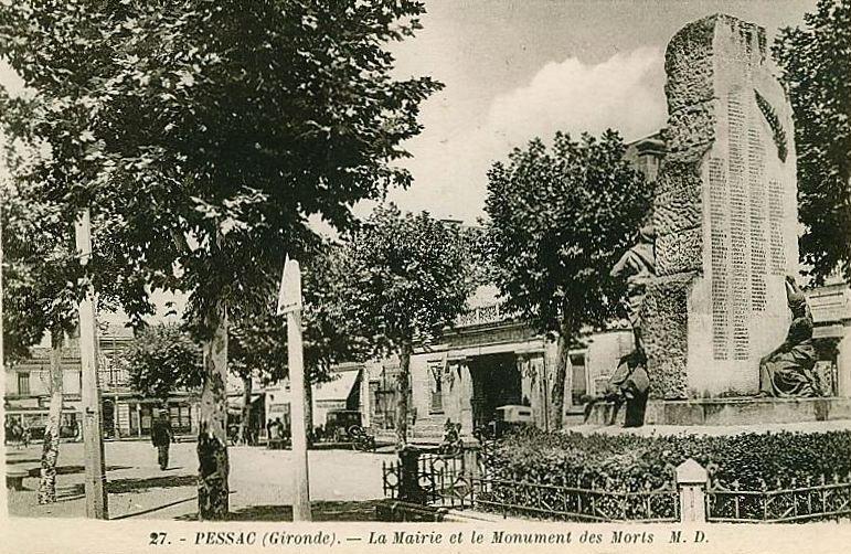 Photo du Monument Historique Monument aux Morts de la guerre 14-18 situé à Pessac