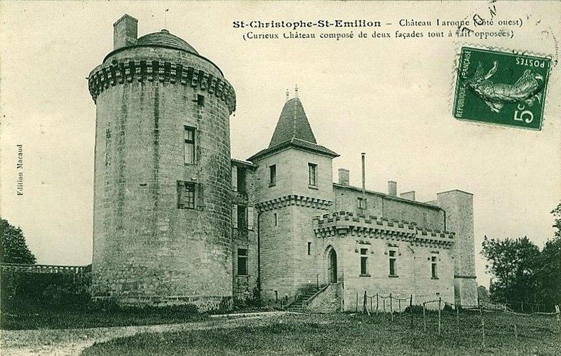 Photo du Monument Historique Château Laroque situé à Saint-Christophe-des-Bardes