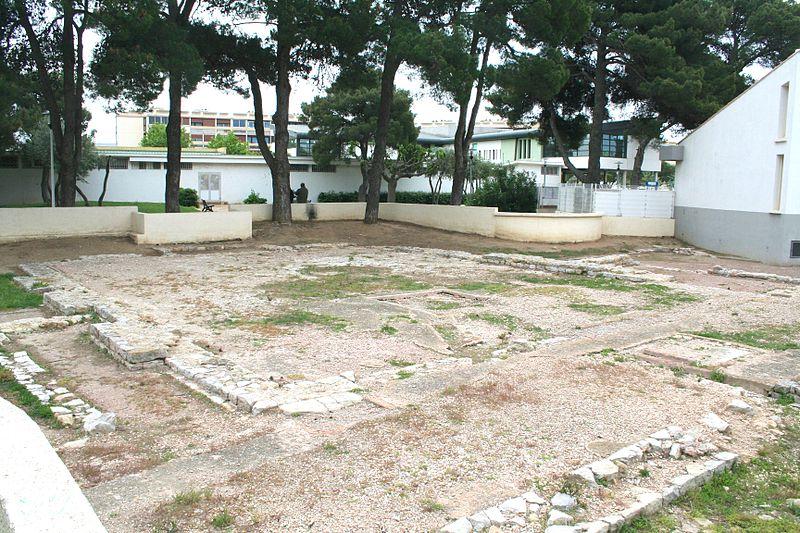 Photo du Monument Historique Vestiges de labasilique romaine situé à Balaruc-les-Bains