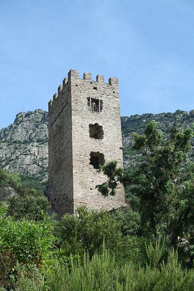 Photo du Monument Historique Donjon situé à Colombières-sur-Orb