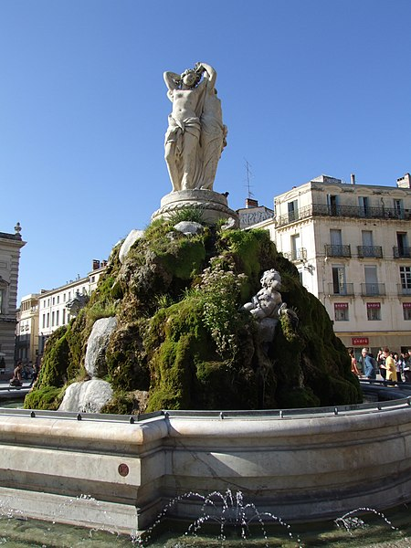 Photo du Monument Historique Fontaine des Trois Grâces situé à Montpellier
