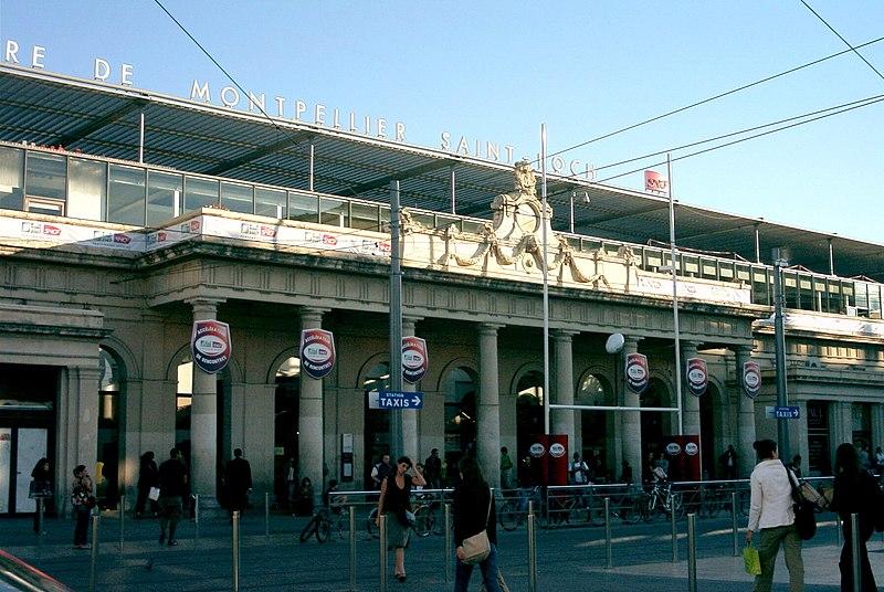 Photo du Monument Historique Gare situé à Montpellier