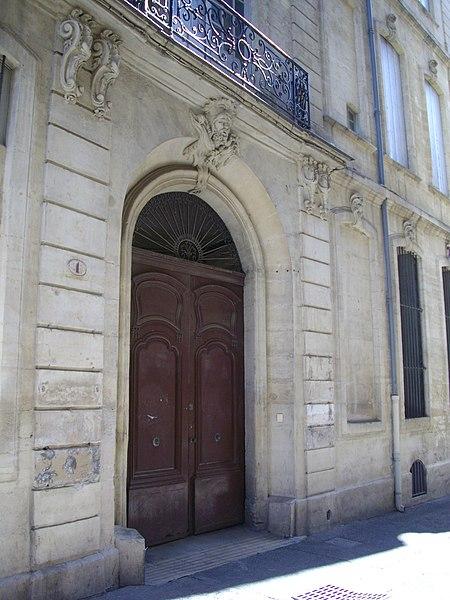 Photo du Monument Historique Hôtel Bachy-du-Cayla situé à Montpellier