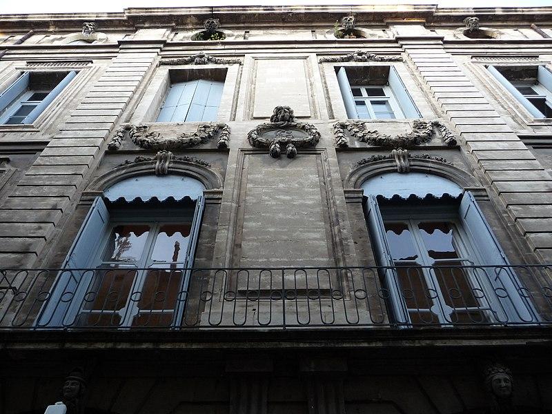 Photo du Monument Historique Hôtel de Baudon de Mauny situé à Montpellier