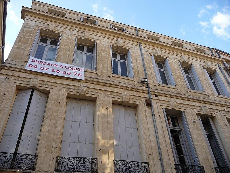 Photo du Monument Historique Hôtel de Boussugues situé à Montpellier