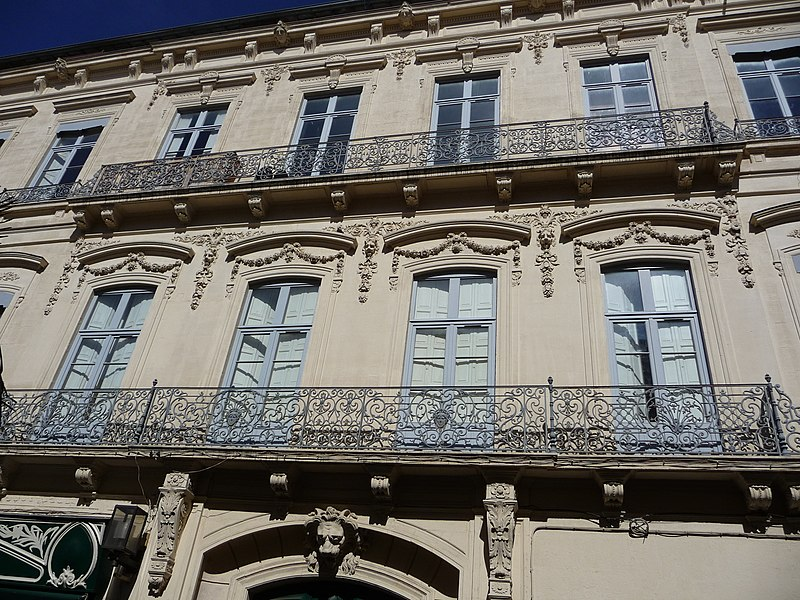 Photo du Monument Historique Hôtel de Claris situé à Montpellier