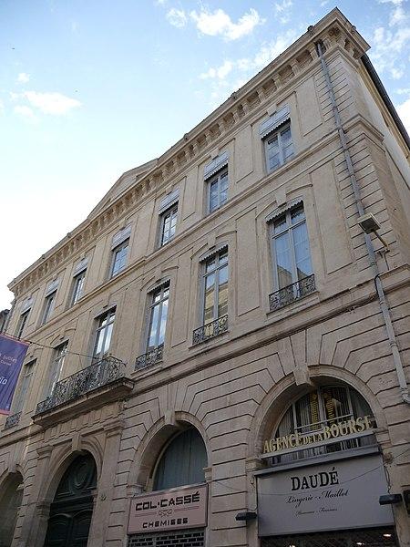 Photo du Monument Historique Hôtel de Fourques situé à Montpellier