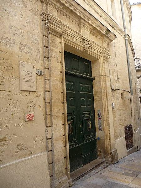 Photo du Monument Historique Hôtel Hortolès ou Ginestous situé à Montpellier