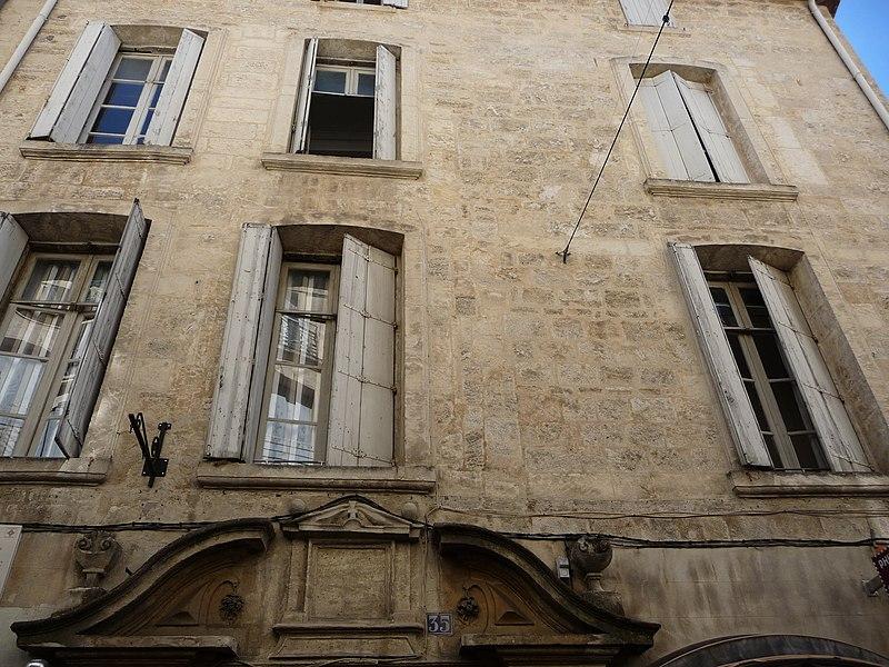 Photo du Monument Historique Hôtel de Ricard situé à Montpellier