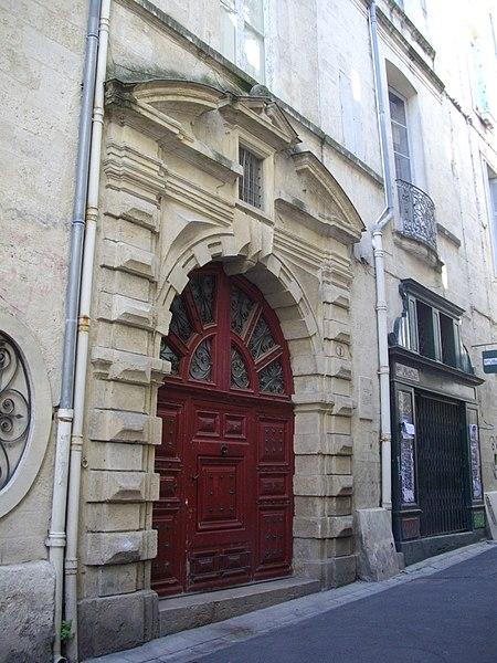 Photo du Monument Historique Hôtel de Solas situé à Montpellier