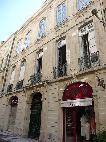 Photo du Monument Historique Hôtel Lamouroux situé à Montpellier