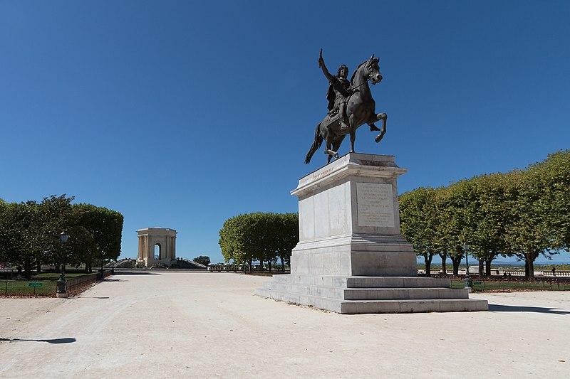 Photo du Monument Historique Ensemble de la promenade du Peyrou situé à Montpellier