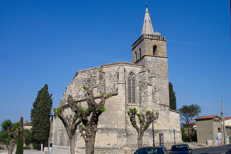Photo du Monument Historique Eglise Saint-Saturnin situé à Nissan-lez-Enserune