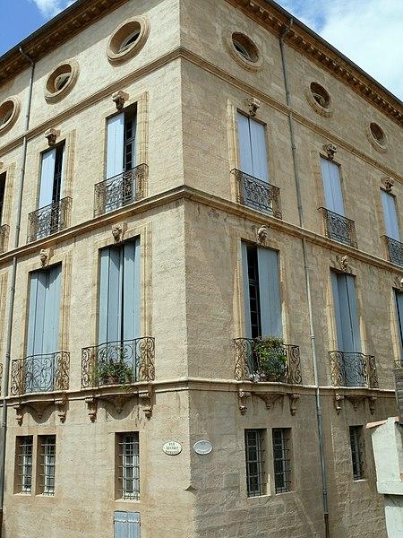Photo du Monument Historique Hôtel de Malibran situé à Pézenas