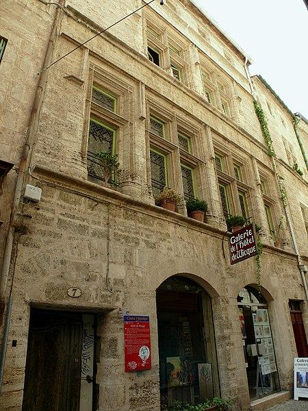 Photo du Monument Historique Hôtel de Wicque situé à Pézenas