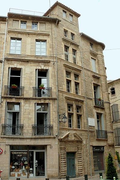 Photo du Monument Historique Maison des Commandeurs situé à Pézenas