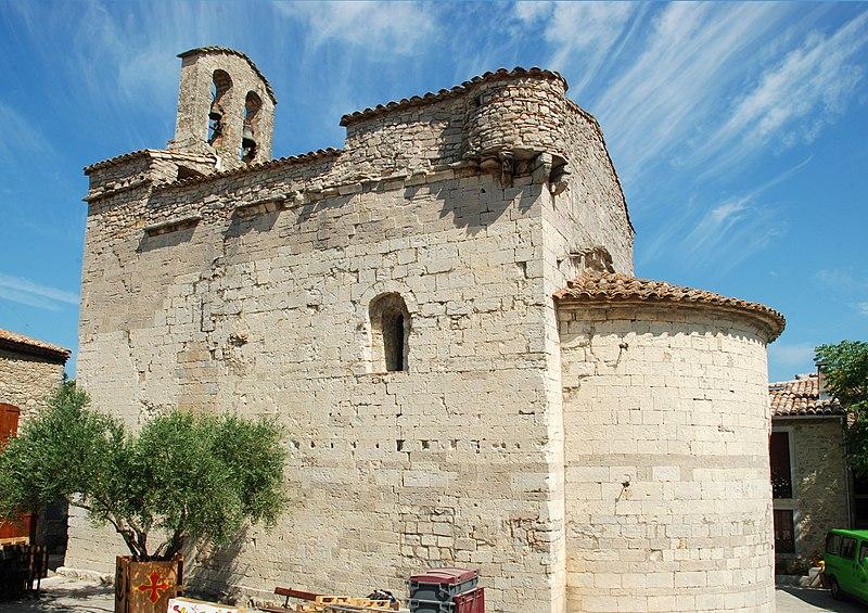 Photo du Monument Historique Eglise de l'Exaltation de la Sainte-Croix situé à Sainte-Croix-de-Quintillargues