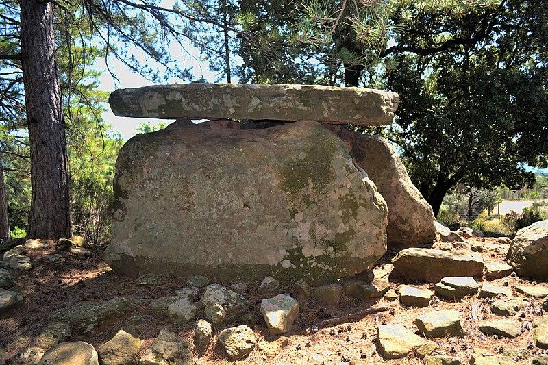Photo du Monument Historique Dolmen dit du Belvédère situé à Saint-Privat