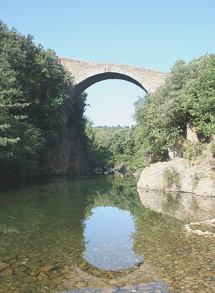 Photo du Monument Historique Pont du Diable situé à Villemagne-l'Argentière
